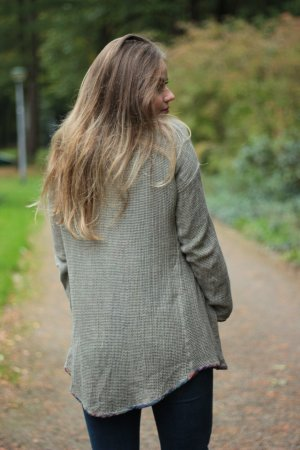 Rabe Cardigan all'uncinetto grigio-verde
