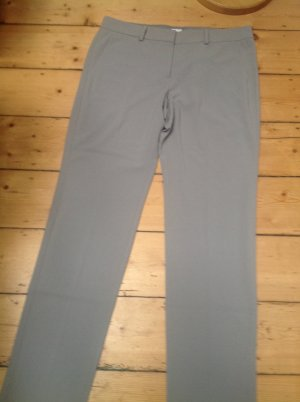 Armani Collezioni Jersey Pants silver-colored mixture fibre