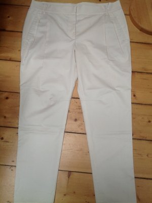 Gunex Pleated Trousers natural white mixture fibre