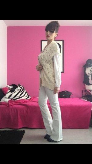 ganz neue boot cut low waist schlaghose jeans in weiss
