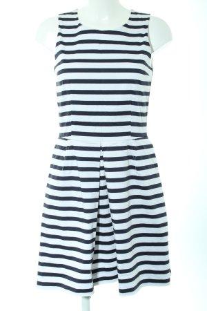 Gap A-Linien Kleid blau-schwarz Streifenmuster Elegant