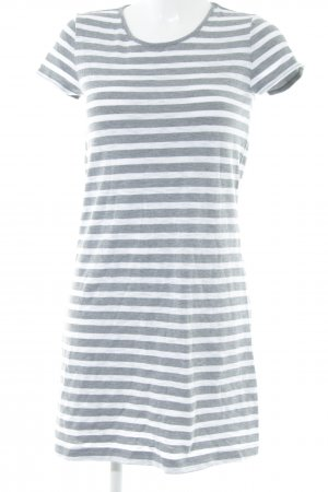 Gap A-Linien Kleid grau-weiß Streifenmuster Casual-Look