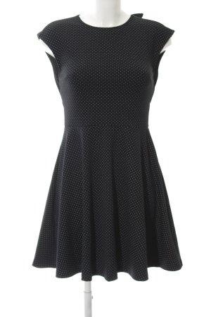 Gap A-Linien Kleid schwarz Punktemuster Casual-Look