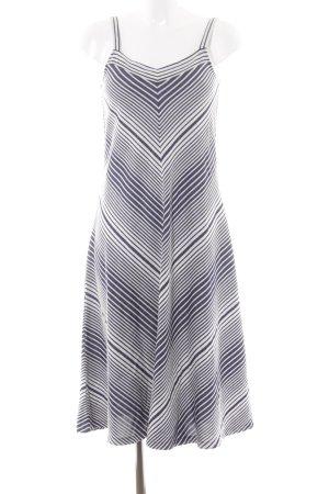 Gap A-Linien Kleid weiß-dunkelblau Streifenmuster Casual-Look