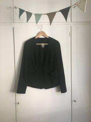 GAP | Blazer | strukturiertes Material | Schwarz | Jacke | lockere Taschen | doppellagig | Gr. 32/XS