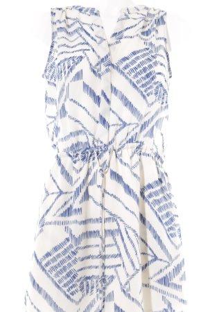 Gap Blusenkleid wollweiß-blau abstraktes Muster Casual-Look