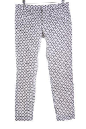 Gap Chinohose weiß-schwarz abstraktes Muster Elegant