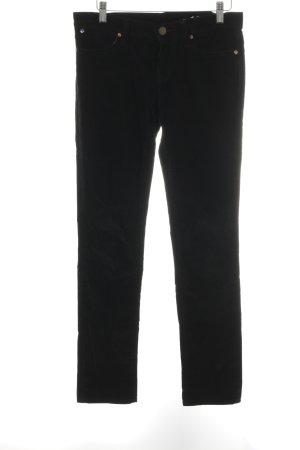 Gap Pantalon en velours côtelé noir style décontracté