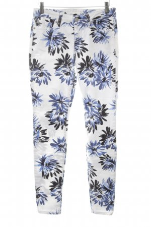 Gap Five-Pocket Trousers white-blue allover print casual look