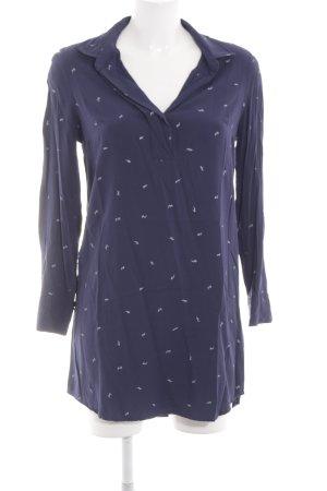 Gap Abito blusa camicia blu stampa integrale stile professionale