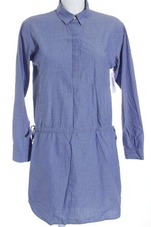 Gap Hemdblusenkleid hellblau Punktemuster Jeans-Optik