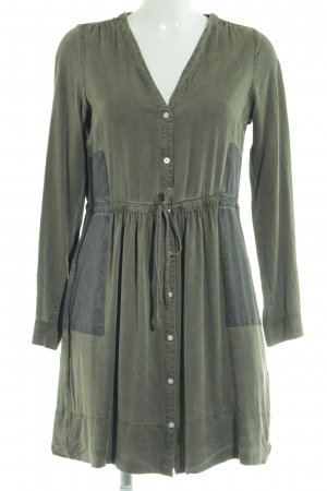 Gap Hemdblusenkleid khaki-grau Casual-Look