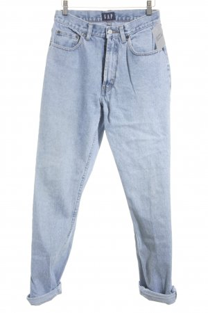 Gap High Waist Jeans hellblau Street-Fashion-Look