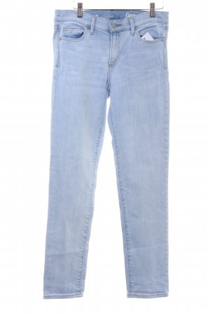 Gap High Waist Jeans weiß-himmelblau Casual-Look