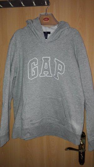 Gap Jersey con capucha gris claro-blanco Algodón