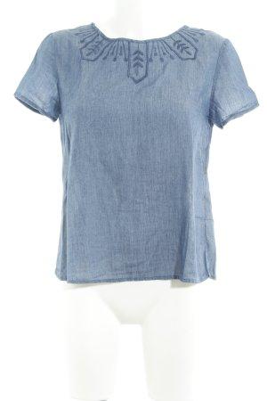 Gap Blouse en jean bleu acier style campagnard