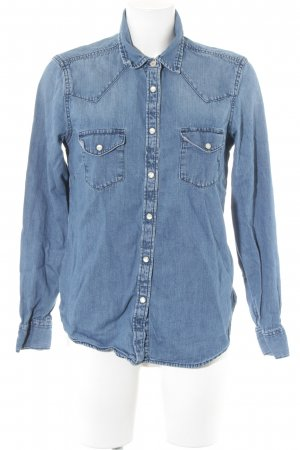 Gap Chemise en jean bleu-argenté style décontracté