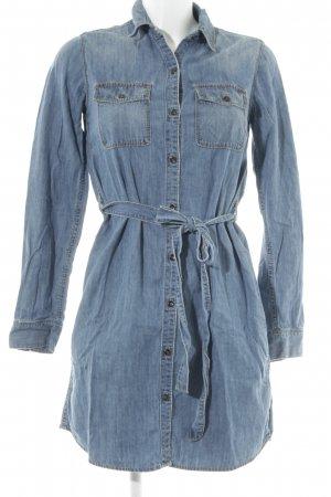 Gap Denim Dress steel blue jeans look
