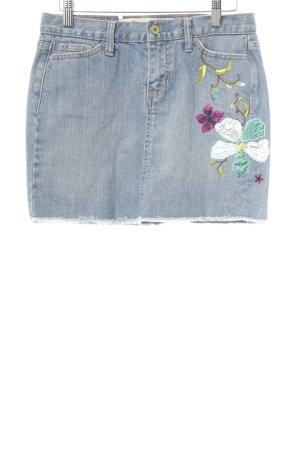 Gap Spijkerrok korenblauw bloemenprint casual uitstraling