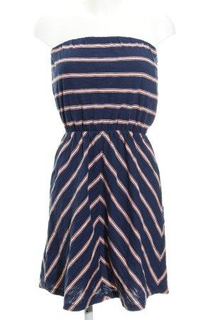 Gap Jerseykleid dunkelblau-rosa Streifenmuster Casual-Look