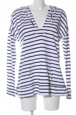 Gap Hooded Sweater white-black striped pattern casual look