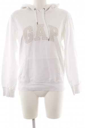 Gap Jersey con capucha blanco-crema estilo deportivo