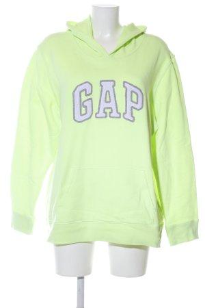 Gap Kapuzensweatshirt grün Schriftzug gedruckt Casual-Look