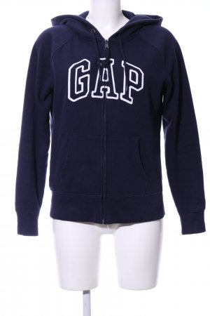 Gap Hooded Sweatshirt blue-white embroidered lettering casual look