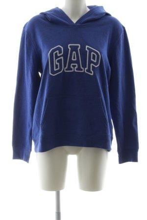 Gap Kapuzensweatshirt blau-weiß Casual-Look