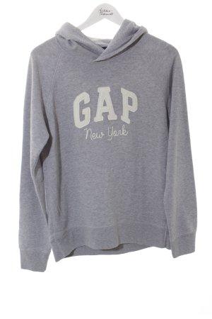 Gap Kapuzensweatshirt hellgrau-weiß sportlicher Stil