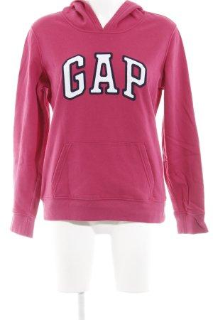 Gap Kapuzensweatshirt violett-weiß Schriftzug gestickt sportlicher Stil