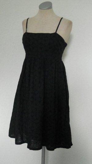 GAP Kleid Baumwolle blau Spitze Grr. 6 S 36 knielang Träger