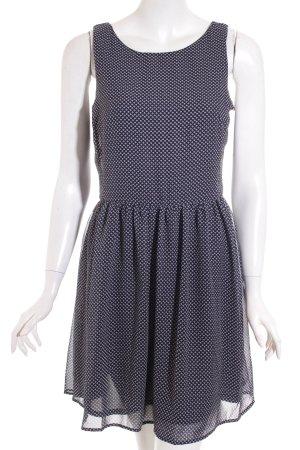 Gap Kleid weiß-dunkelblau grafisches Muster Casual-Look