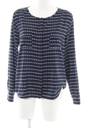 Gap Langarm-Bluse blau-weiß grafisches Muster Casual-Look