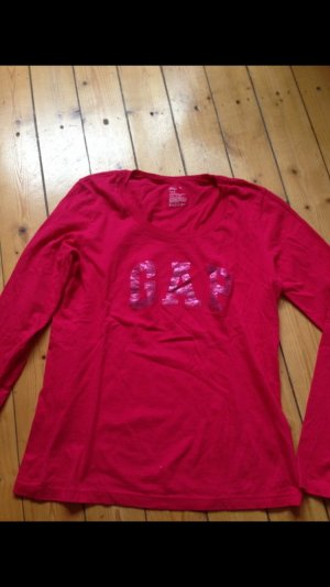 GAP Langarm Shirt in Pink