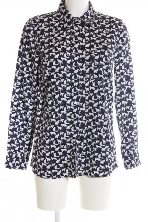 Gap Camicia a maniche lunghe nero-bianco stampa integrale stile casual