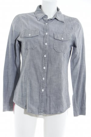 Gap Shirt met lange mouwen lichtgrijs gestippeld casual uitstraling