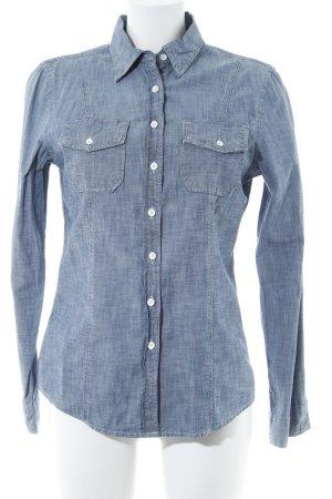 Gap Shirt met lange mouwen korenblauw gestippeld casual uitstraling