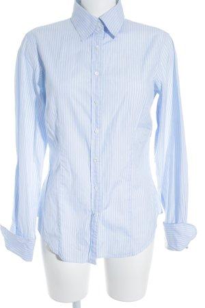 Gap Langarmhemd weiß-kornblumenblau Streifenmuster Casual-Look