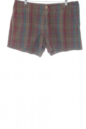 Gap Pantalón corto tipo peto estampado a cuadros estilo country
