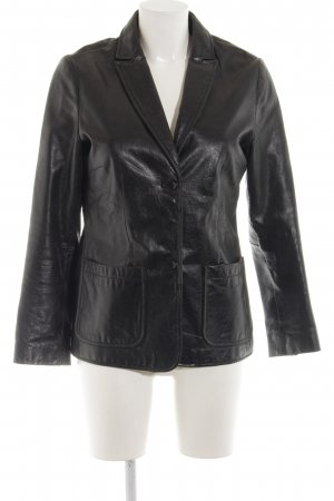 Gap Leather Blazer black business style