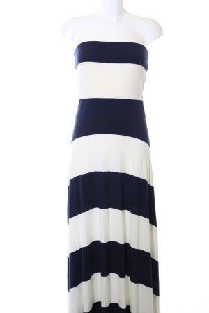 Gap Maxikleid weiß-blau Streifenmuster Casual-Look