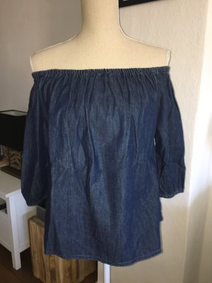 GAP offshoulder Bluse off shoulder Jeansbluse Gr. XS S 34 36 NEU