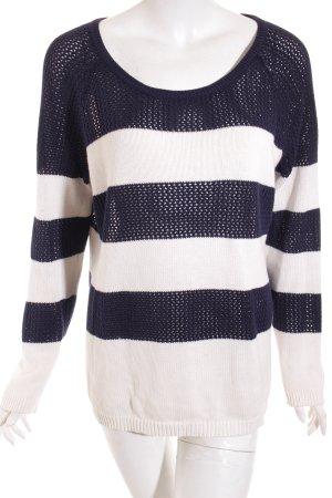 Gap Pullover weiß-blau Streifenmuster Casual-Look