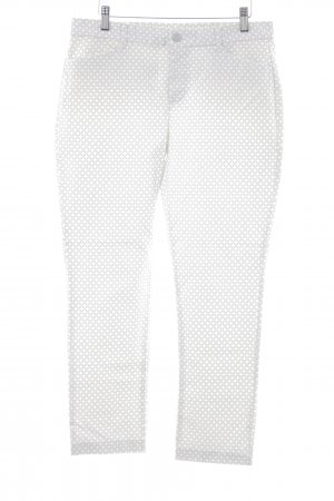 Gap Drainpipe Trousers white-azure graphic pattern casual look