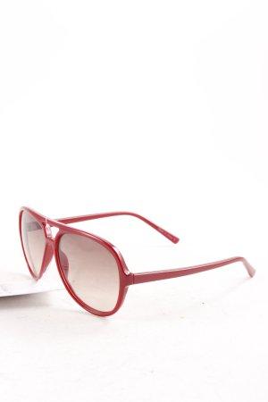 Gap runde Sonnenbrille dunkelrot-hellbraun Casual-Look