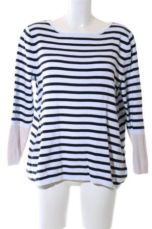 Gap Rundhalspullover schwarz-weiß Streifenmuster Casual-Look