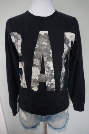Gap Crewneck Sweater black-silver-colored cotton