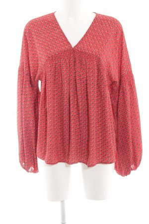 Gap Schlupf-Bluse rot-pink abstraktes Muster Casual-Look