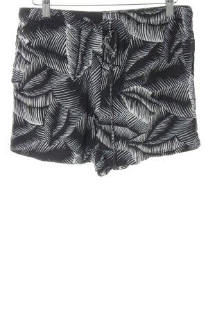 Gap Shorts schwarz-weiß abstraktes Muster Beach-Look